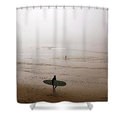 Lonely Surfer Shower Curtain