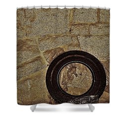 Lonely Tire Shower Curtain
