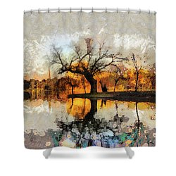 Lonely Tree And Its Thoughts Shower Curtain