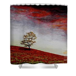 Lonely Tree Shower Curtain by Judy Kirouac