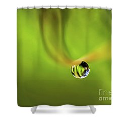 Lonely Water Droplet Shower Curtain
