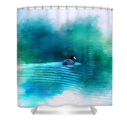 Lonely Without You Shower Curtain