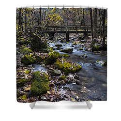 Lonesome Bridge Shower Curtain