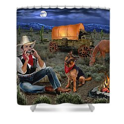 Lonesome Cowboy Shower Curtain by Glenn Holbrook