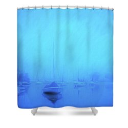 Shower Curtain featuring the photograph Lonesome Harbor by Joel Witmeyer