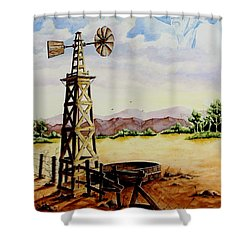 Lonesome Prairie Shower Curtain by Jimmy Smith