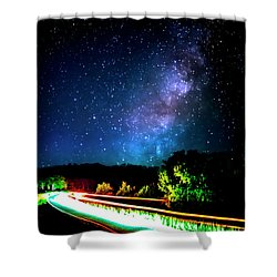 Shower Curtain featuring the photograph Lonesome Texas Highway by David Morefield