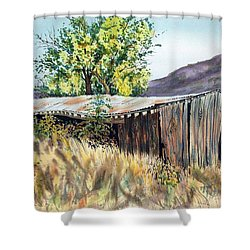 Long Barn Shower Curtain