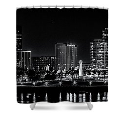 Long Beaach A Chip In Time Shower Curtain