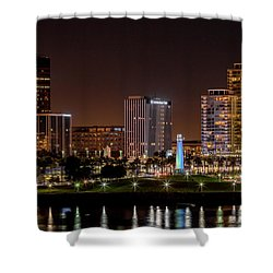 Long Beach A Chip In Time Color Shower Curtain