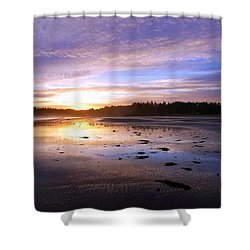 Long Beach, British Columbia Shower Curtain by Heather Vopni