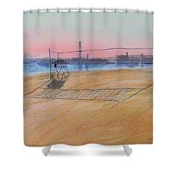 Long Beach Icons Shower Curtain
