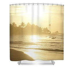 Long Beach Kogalla Shower Curtain by Christian Zesewitz
