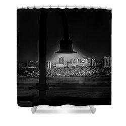 Long Beach Noir Shower Curtain