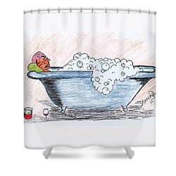 Long Day Shower Curtain by Diamin Nicole