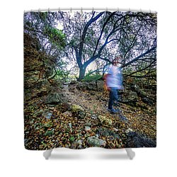 Long Exposure Peddernales Falls State Park Hike Shower Curtain