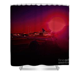 Shower Curtain featuring the photograph Long Flight 2 by Andrew Drozdowicz