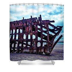 Long Forgotten Shipwreck Shower Curtain