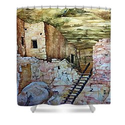 Long House, Mesa Verde National Park Shower Curtain by Lance Wurst