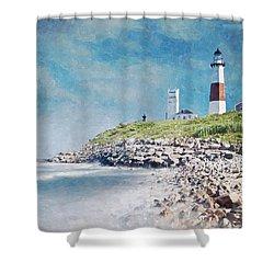 Long Island Lighthouse Shower Curtain by Kai Saarto