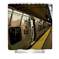 Long Island Railroad Shower Curtain by George Pedro