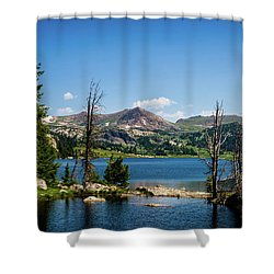 Shower Curtain featuring the photograph Long Lake Wyoming No. 2 by TL Mair