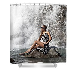 Long Leg Lady Shower Curtain