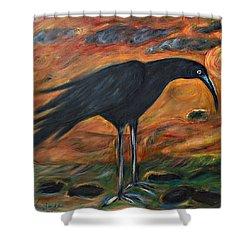 Long Legged Crow Shower Curtain
