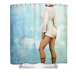 Shower Curtain featuring the digital art Long Legs by Jutta Maria Pusl