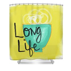 Long Life Noodles- Art By Linda Woods Shower Curtain