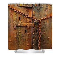 Long Locked Iron Door Shower Curtain