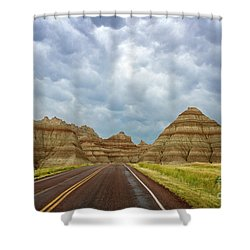Long Lonesome Highway Shower Curtain