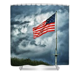 Long May It Wave Shower Curtain