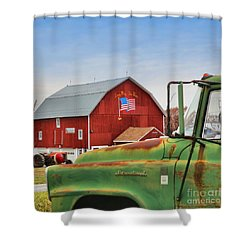 Shower Curtain featuring the photograph Long May She Wave by DJ Florek