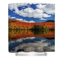Long Pond And Clouds Shower Curtain