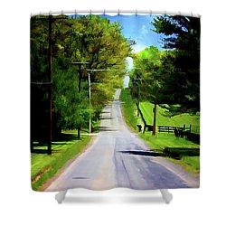 Long Road Ahead Shower Curtain