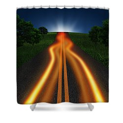 Long Road In Twilight Shower Curtain by Setsiri Silapasuwanchai