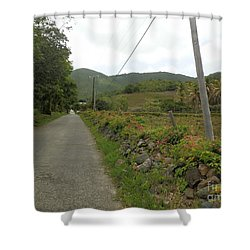 Long Road Into Colombier Shower Curtain