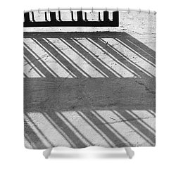 Shower Curtain featuring the photograph Long Shadow Of Metal Gate by Prakash Ghai