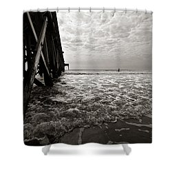 Shower Curtain featuring the photograph Long To Surf by David Sutton