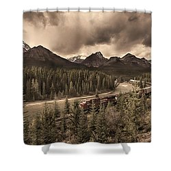 Long Train Running Shower Curtain by John Poon