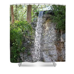 Shower Curtain featuring the photograph Long Waterfall Drop by Raphael Lopez