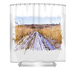 Long Way Artistic  Shower Curtain