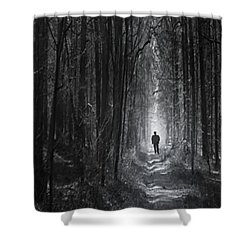 Shower Curtain featuring the photograph Long Way Home by Bernd Hau