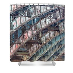 Longfellow Bridge Arches II Shower Curtain by Clarence Holmes