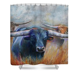 Longhorn Country Shower Curtain by Karen Kennedy Chatham