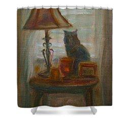 Longing- A Not-so-stillife Shower Curtain