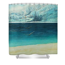 Longing Shower Curtain by Jane See