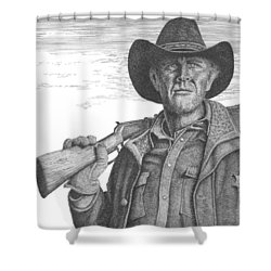 Longmire Shower Curtain