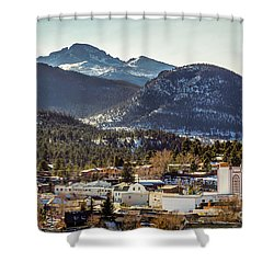 Longs Peak From Estes Park Shower Curtain